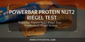 PowerBar Protein Nut2 Riegel Test - ProteinNut2 Riegel Review