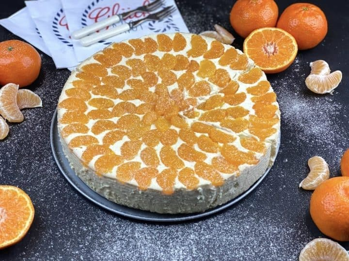 Fitness Mandarin cheesecake without bottom