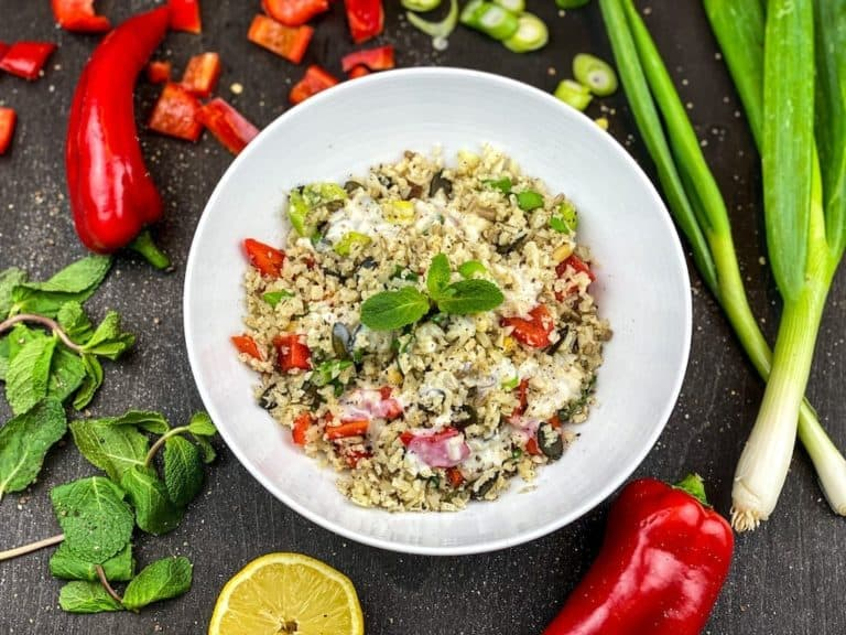 Low-Carb Couscous Salat