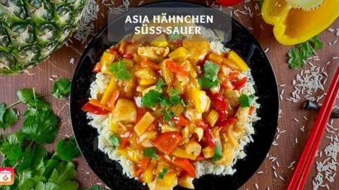 Gesundes Hähnchen süß-sauer – Asia süß-sauer mit Gemüse