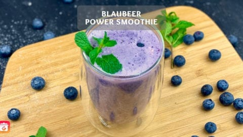 Blaubeer Power Smoothie - Blaubeer-Protein Smoothie Rezept