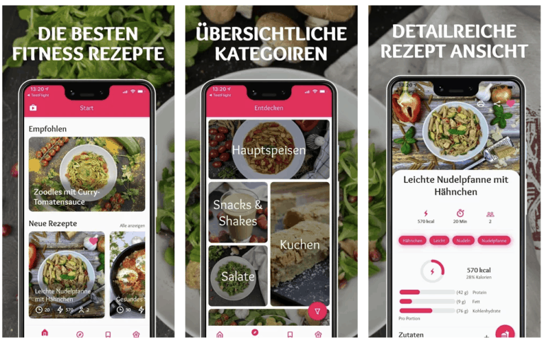 FitTasteTic Rezepte App Screenshots