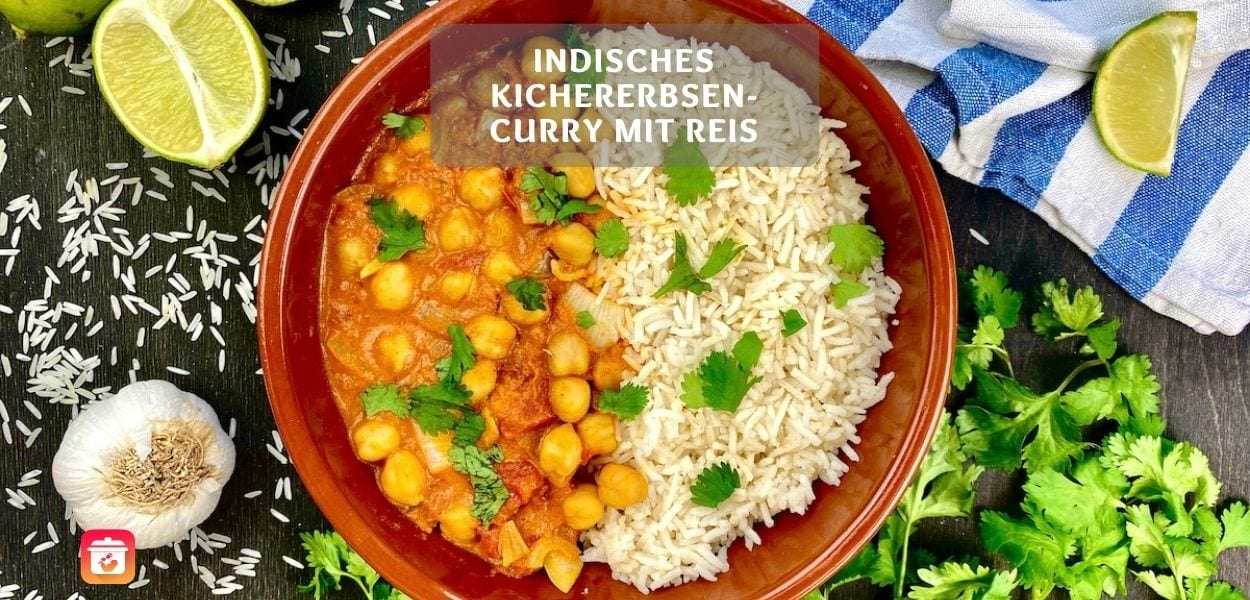 Indisches Curry mit Kichererbsen