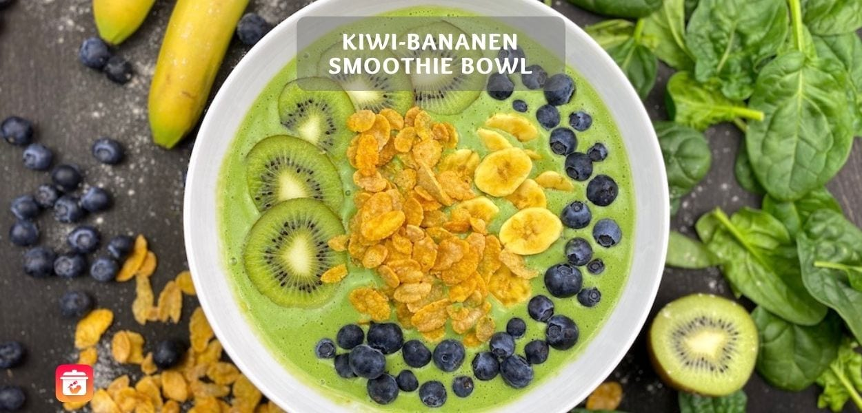 Kiwi-Bananen Smoothie Bowl - Gesundes Smoothie Bowl Rezept