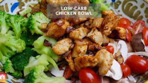 Low-Carb Chicken Bowl - Volumenreiches Low-Carb Bowl Rezept