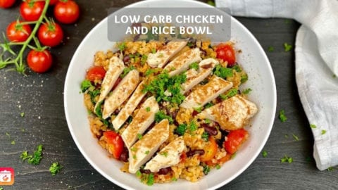 Low-Carb Chicken & Rice Bowl - Low-Carb Fitness Rezept