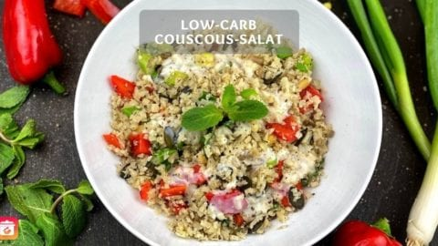 Low-Carb Couscous Salat - Low-Carb Blumenkohl Salat Rezept