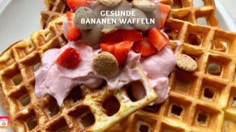 Protein Waffeln - Gesundes Bananen Waffel Rezept