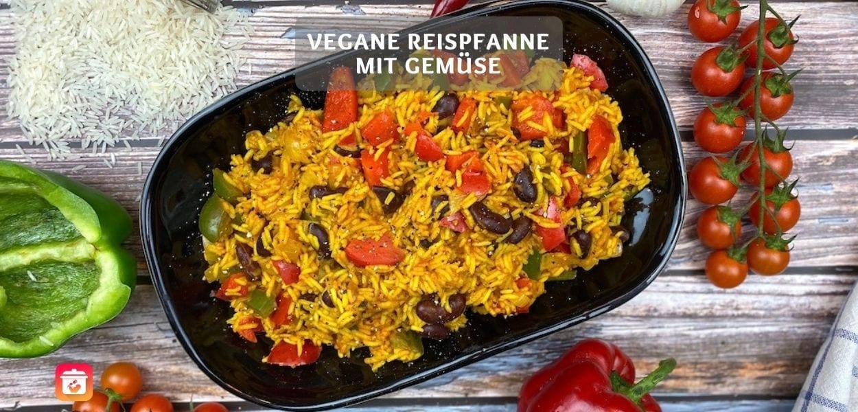Vegane Reispfanne mit Gemüse – Gesundes Veganes Reisgericht