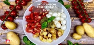 Vegetarische Pesto Potato Bowl